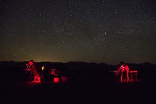 Observing under a clear dark sky at Amboy, CA